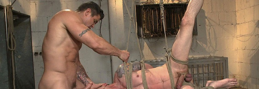 Trenton Ducati takes Jay Rising captive, tormenting him and fucking him without mercy