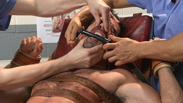 Billy Santoro gets strapped down at the sperm bank