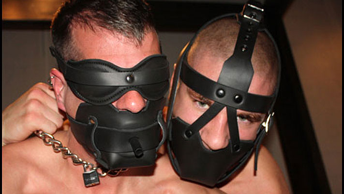 gay bondage gags leather neoprene