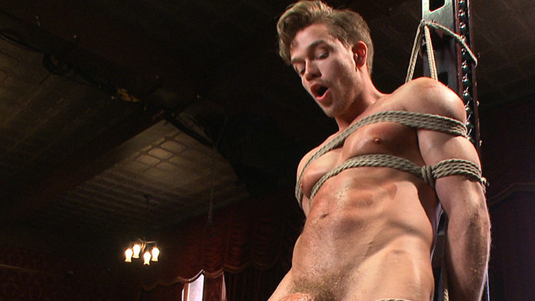 Male BDSM: Lucas Knight is tied and edged