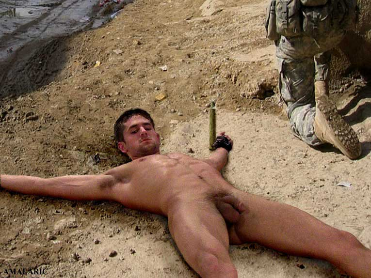 staked-out-soldier