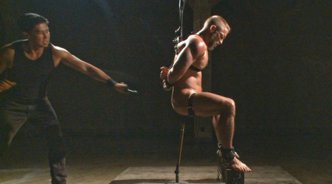 Dirk Caber endures heavy torment while having his hole violated