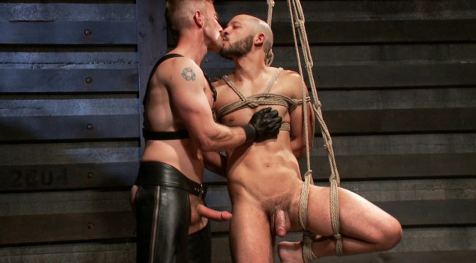 Adam Herst takes his real life partner, Dylan Strokes, to his limit and rewards him with a face full of cum