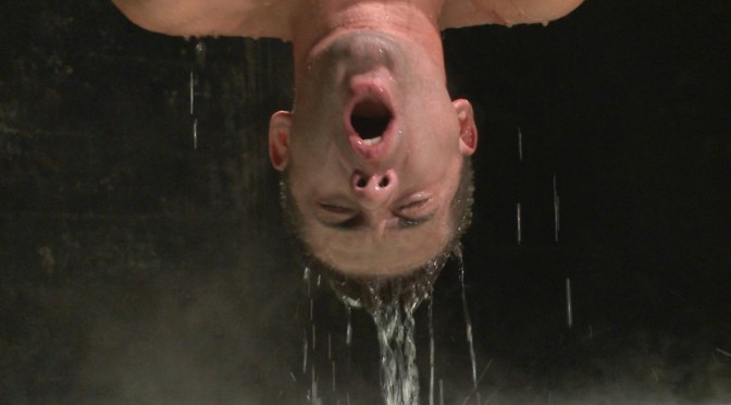 Male BDSM porn: Dylan Knight gets tied up for extreme water torture