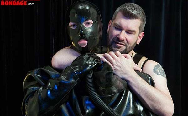 Hot guy in rubber