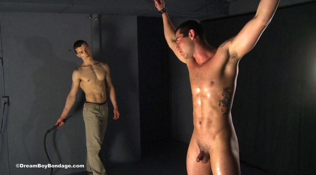 Nude guys jumping