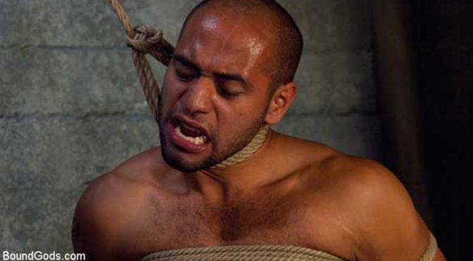 Gay bondage porn: Josh West ties up Leo Forte