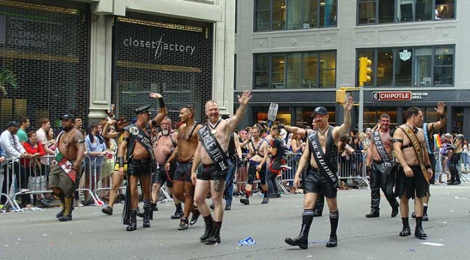 Leather titleholders show their pride