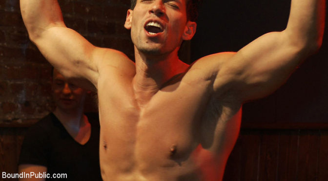 A hot male stripper is humiliated and used as a sex object