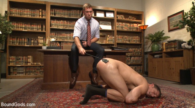 Male BDSM porn: Connor Maguire and Drake Tyler at Bound Gods