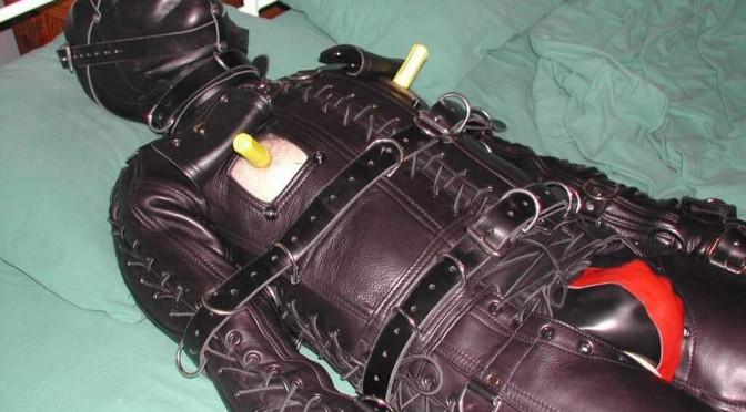 Pictures: Leather bondage suit