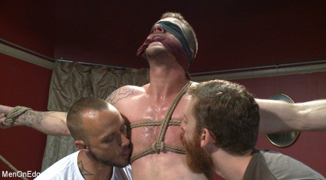 Tryp Bates loses at strip poker and gets tied up