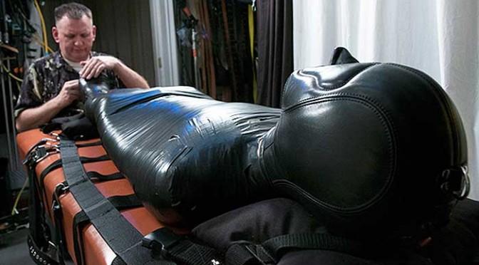 The erotic male bondage of Mummy Ed