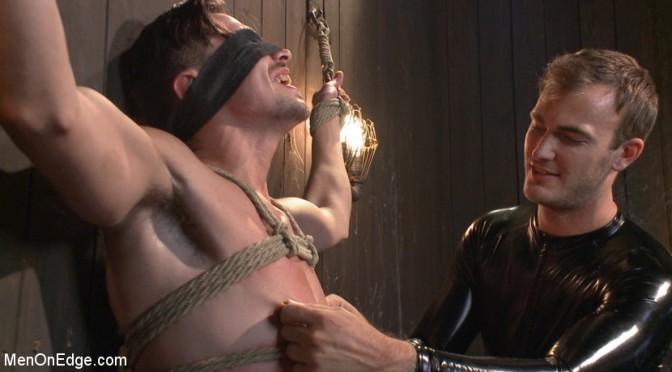 Male bondage: Jack Hunter undergoes a dark edging fantasy