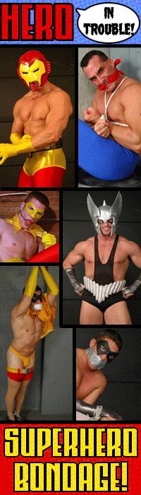 MetalbondNYC_gay_male_bondage_superhero_HeroInTrouble_ad