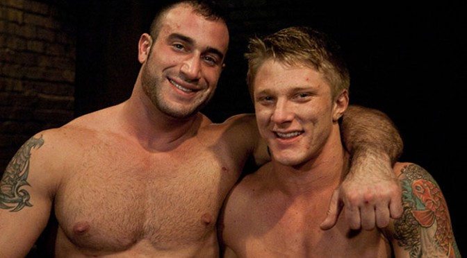 Gay bondage: Spencer Reed and Phillip Aubrey