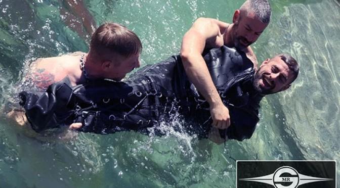 Bondage fun in a swimming pool