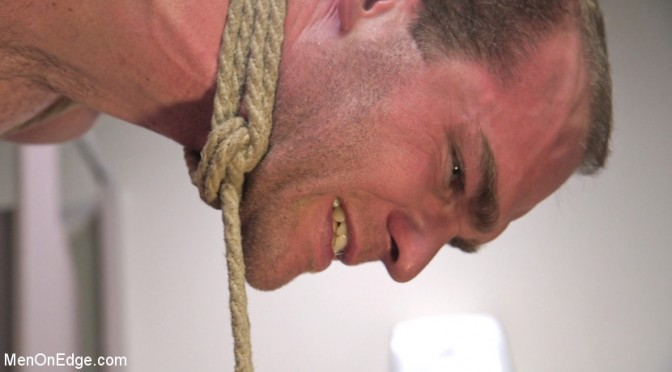 Jonah Marx in tight bondage is relentlessly edged by pervy handyman