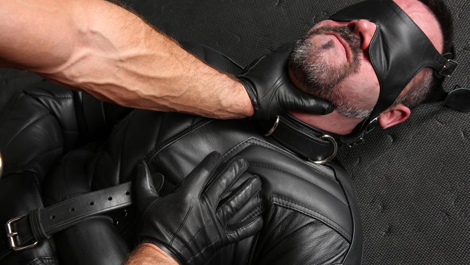 Mr S leather straitjacket