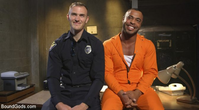 Jail cell domination with Christian Wilde and Micah Brandt