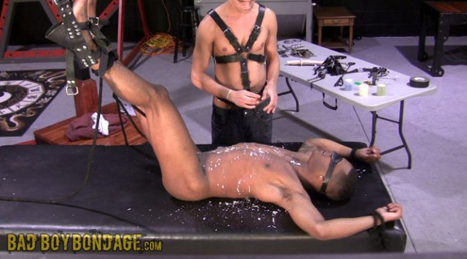 Devon decides that Damien is in need of some electro stimulation