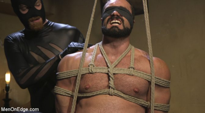 Muscled hunk Jaxton Wheeler is relentlessly edged for Halloween