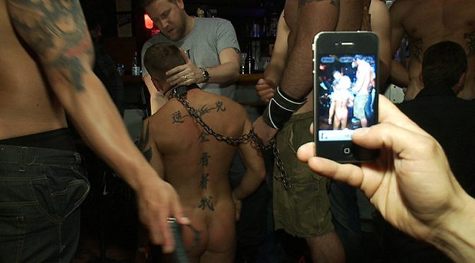 Horny men attack a male go-go dancer at the Powerhouse bar