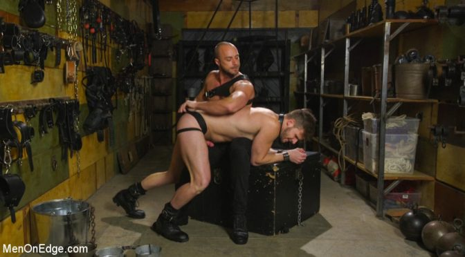 Brian Bonds gets tied up and edged over and over