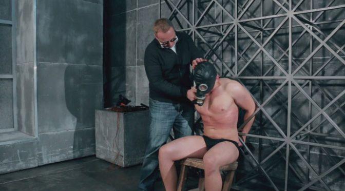 Tied wearing a gasmask