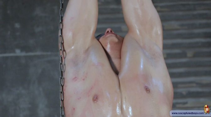 Tortured muscle captive gets whipped and humiliated