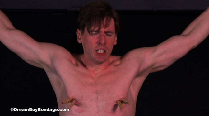 Video: Dirk Wakefield is crucified and tortured at Dream Boy Bondage