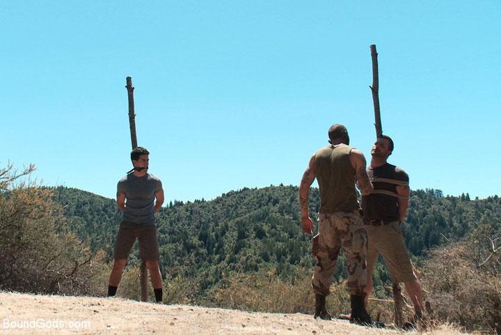 The Cabin gay bondage movie at BOund Gods