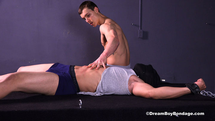 Male spread eagle bondage