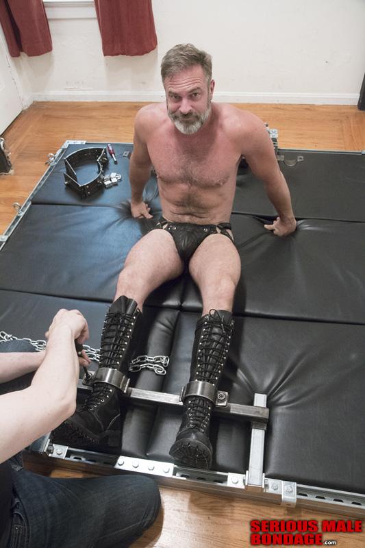Male bondage cum