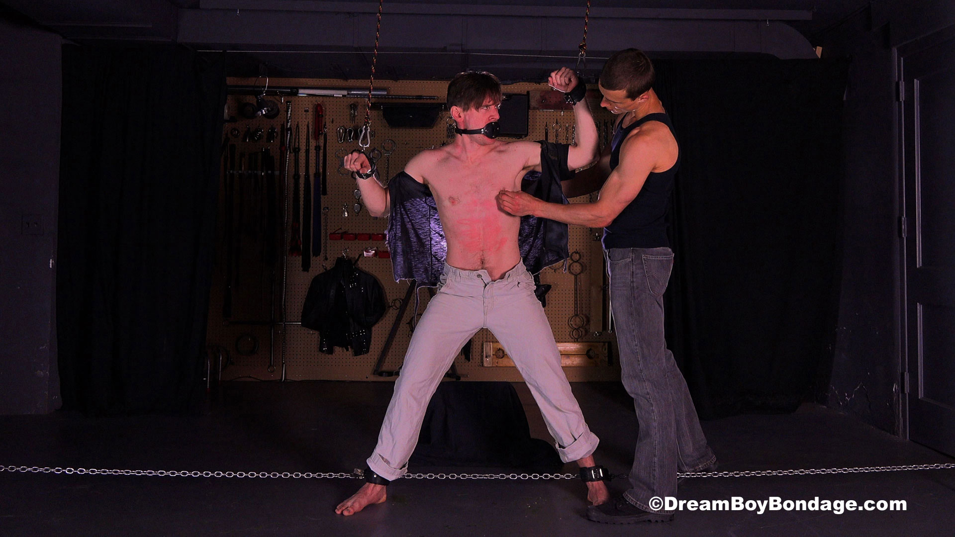Pictures from Dream Boy Bondage: Dirk gets tied up by Jared