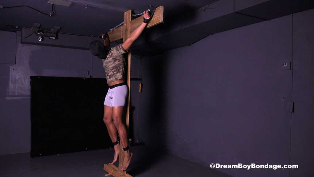 crucified at Dream Boy Bondage