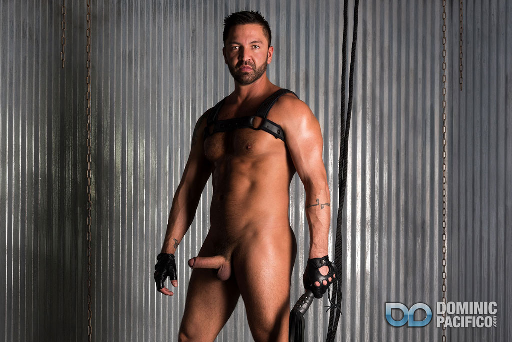 Sean Maygers and Dominic Pacifico gay bondage leather