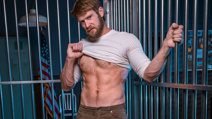 Sex behind bars with Damian Taylor and Colby Keller