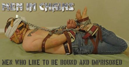 hogtied male slave in chains