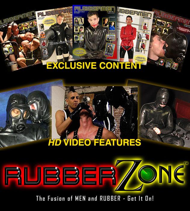 RubberZone gay bondage rubber