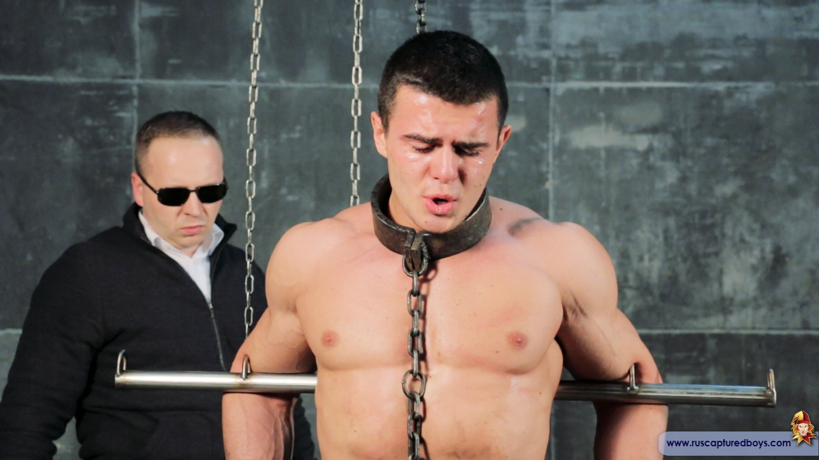 Chained up in heavy irons and tortured