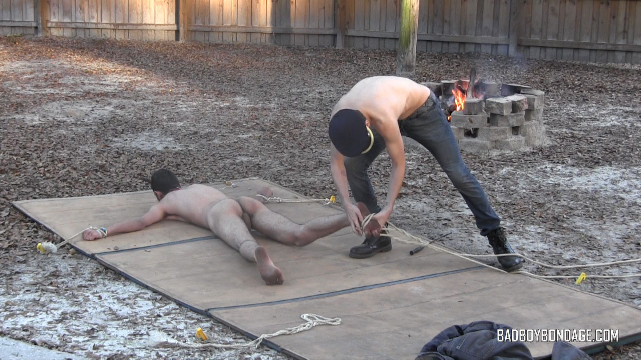 gay male bondage outdoors