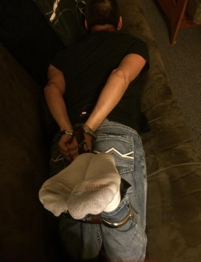 cutieboy90 in handcuffs