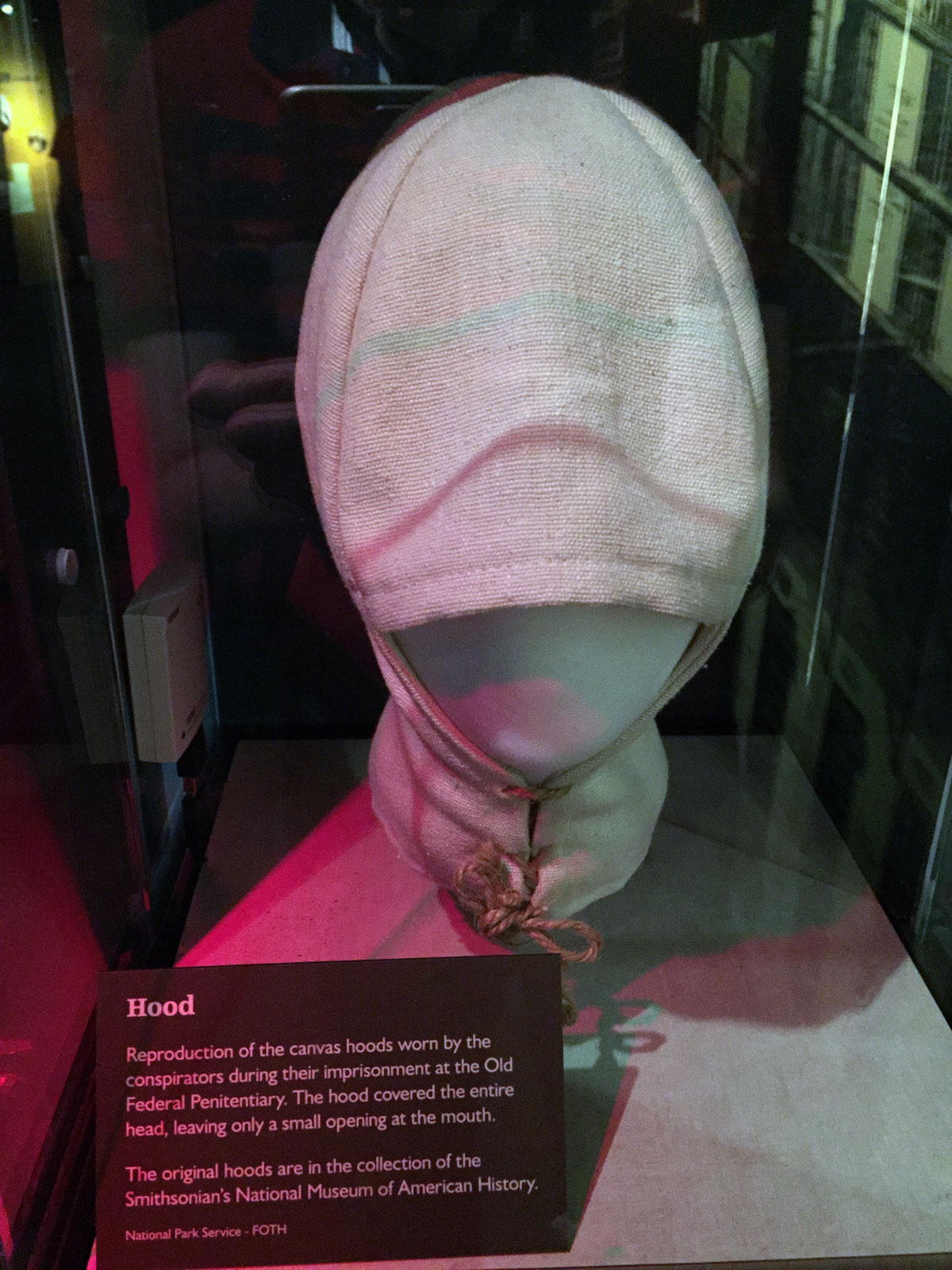 hood used on lincoln conspirators