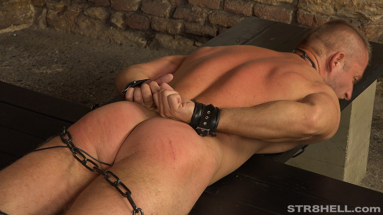 hot naked male ass in bondage
