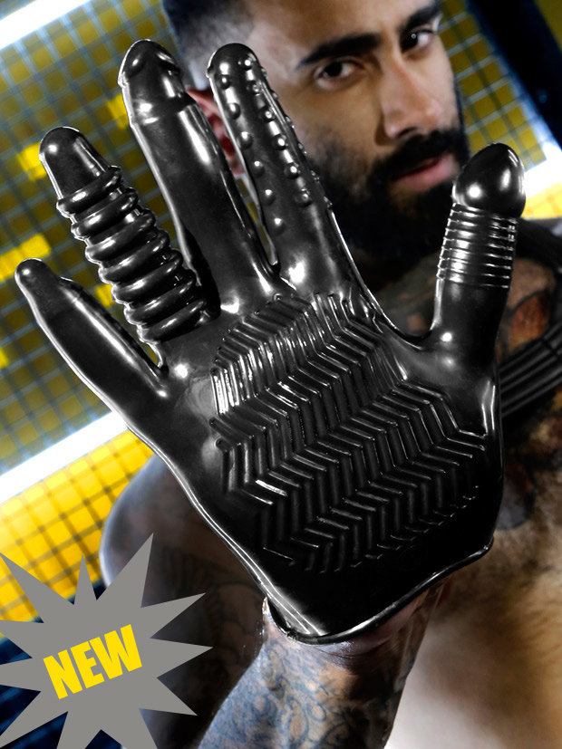 butt play glove with ridges