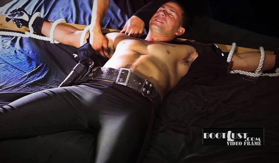 tied up in cop gear