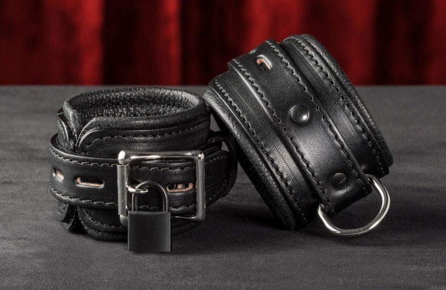 handcrafted leather bondage gear