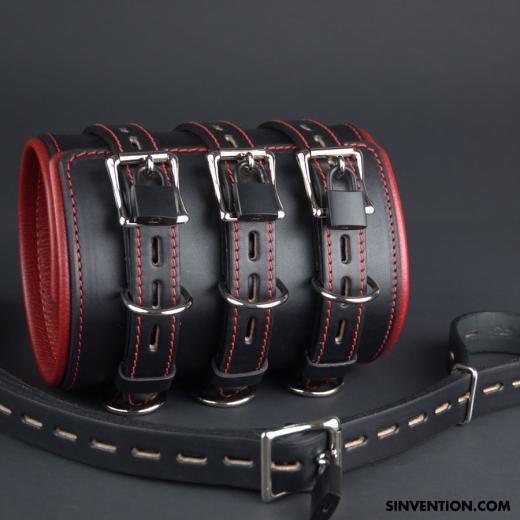 locking eather bondage restraints