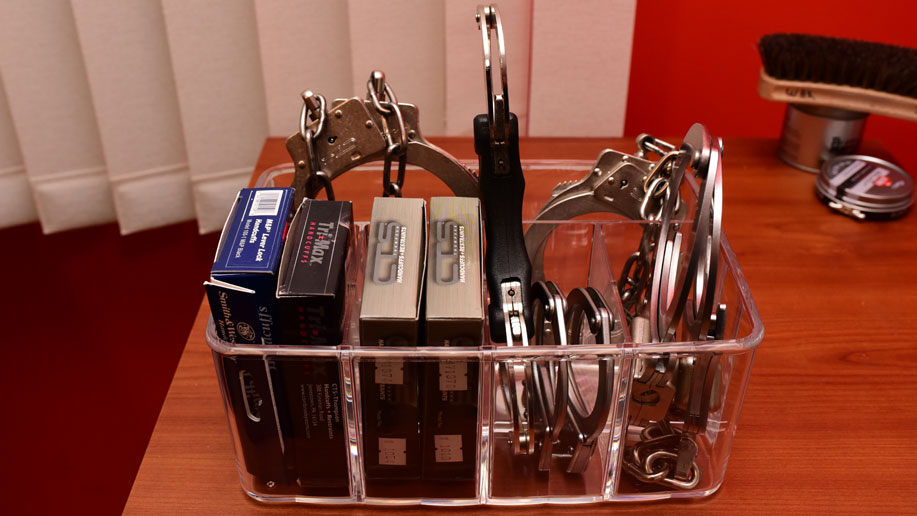Show me your handcuff organizer